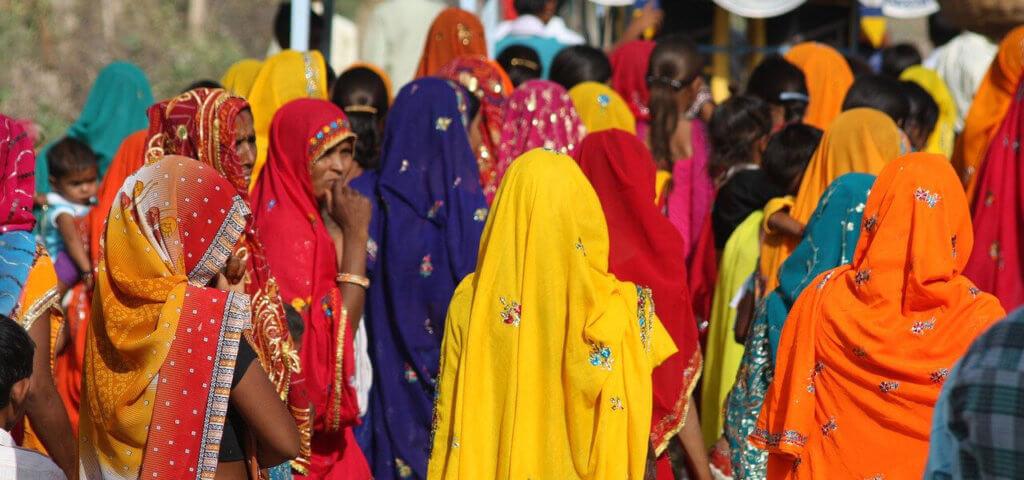 Indische Frauen in Sari