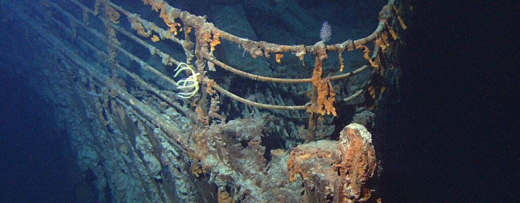 Schiffswrack der Titanic