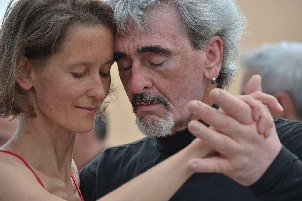 Intimität durch den Tango Tanz