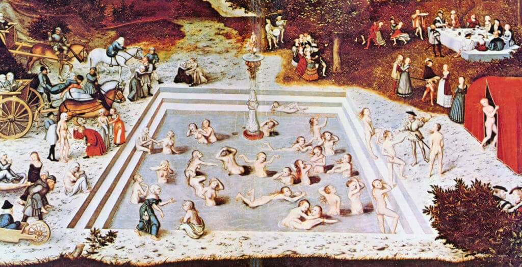 Der Jungbrunnen - Gemälde von Lucas Cranach