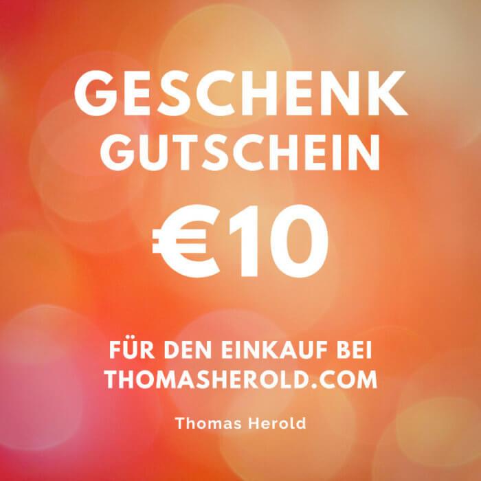 Geschenk Gutschein €10