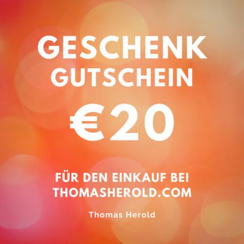Geschenk Gutschein €20