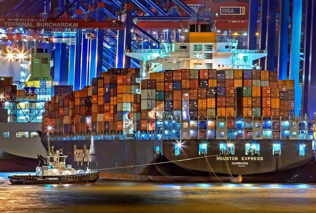 Container Schiff Export